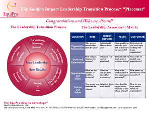 The Sudden Impact Leadership Transition Process Placemat